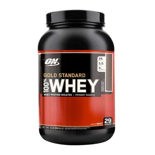 100% Whey Gold Std, 912 g, Double Rich Chocolate