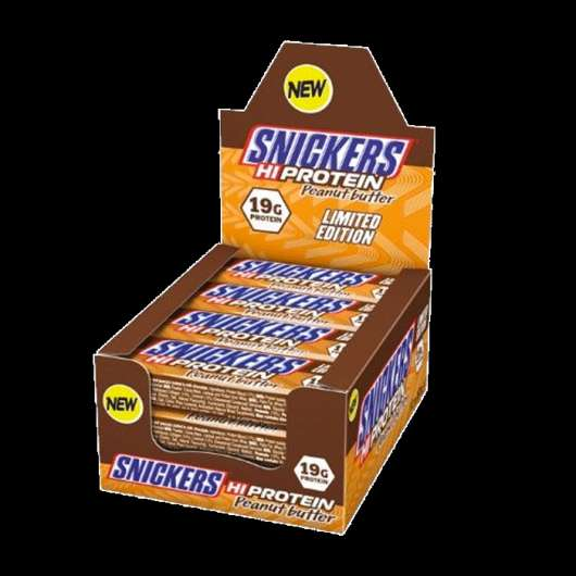 12 x Snickers Peanut Butter Protein Bar, 57 g