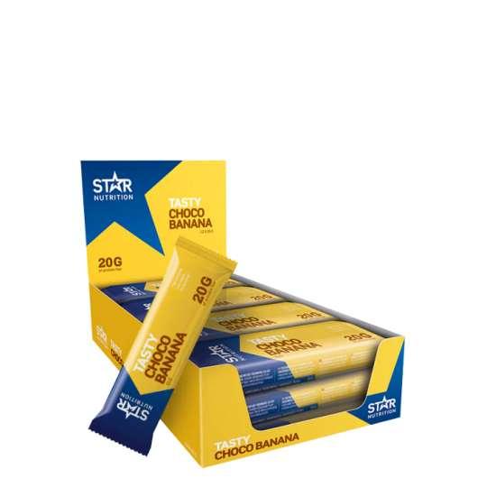 12 x Star Nutrition Protein Bar, 55g, Banana Chocolate - Kort Datum