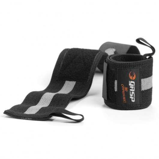 1RM Wrist Wraps, Black/Grey, OS