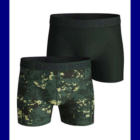2-Pack Sammy Shorts BB Digital Woodland, Duck Green