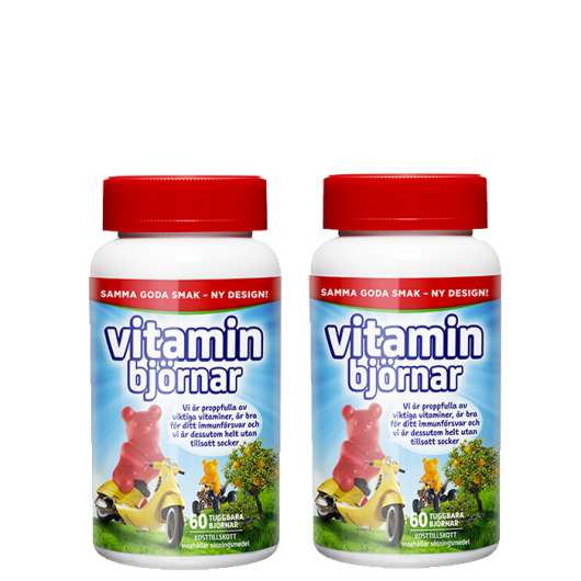 2 x Active Care Vitaminbjörnar, 60 tabletter