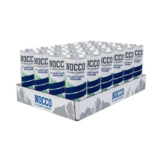 24 x NOCCO BCAA, 330 ml, Blueberry