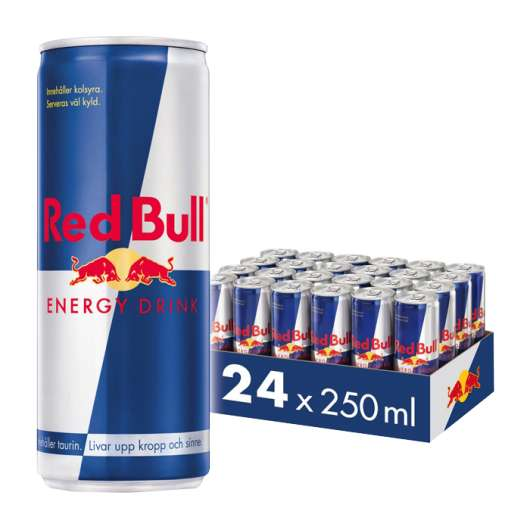 24 x Red Bull Energidryck, 250 ml, Original