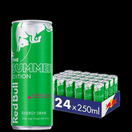 24 x Red Bull Energidryck, 250 ml, Summer edition, Cactus