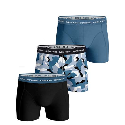 3-Pack BB Nordic Camo Sammy Shorts, Skyway