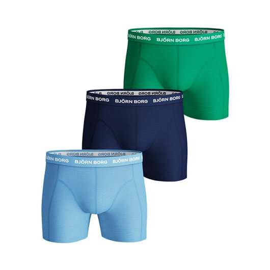 3-Pack Seasonal Solid Sammy Shorts, Placid Blue