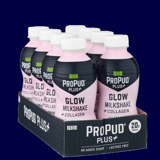 8 x ProPud Shake + Glow Milkshake, 330ml, Melon Honey