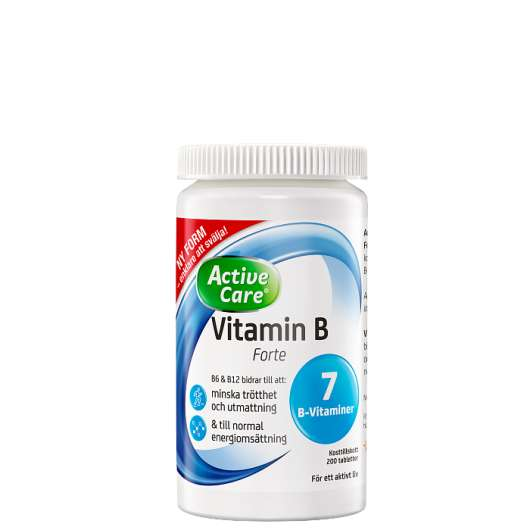 Active Care Vitamin B Forte, 200 tabletter