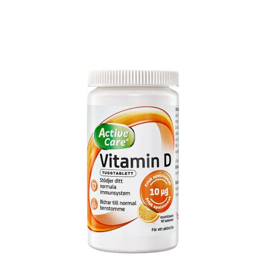 Active Care Vitamin D 10ug, 90 tabletter
