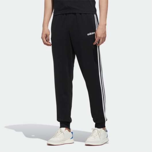 Adidas Essential 3 Stripe Tapered Fit Pnt, Black