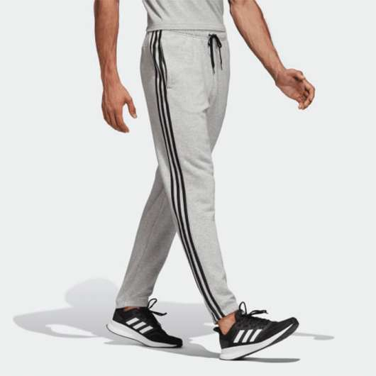 Adidas Essential 3 Stripe Tapered Fit Pnt, Grey