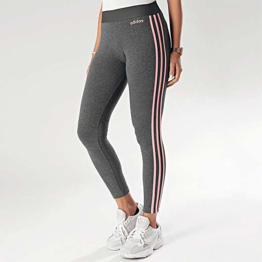 Adidas Essential 3S Tights, Grey/Pink