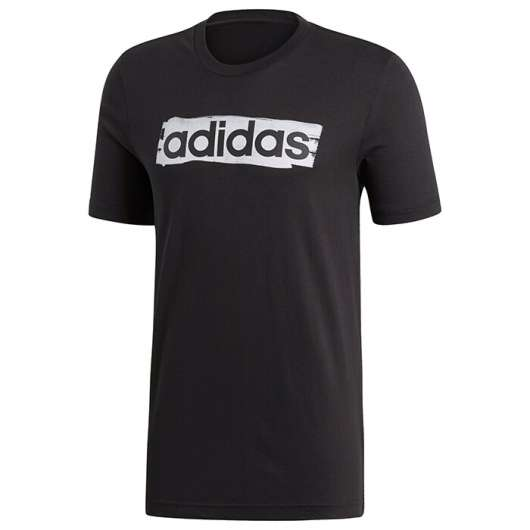 ADIDAS Linear Brush Tee, Black