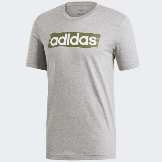 ADIDAS Linear Brush Tee, Grey