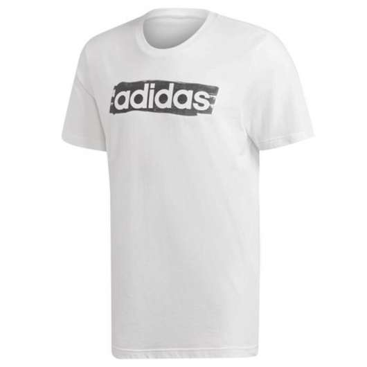 ADIDAS Linear Brush Tee, White
