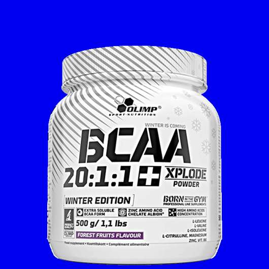 BCAA Xplode 20:1:1, 500 g, Forrest Fruits Winter Edition