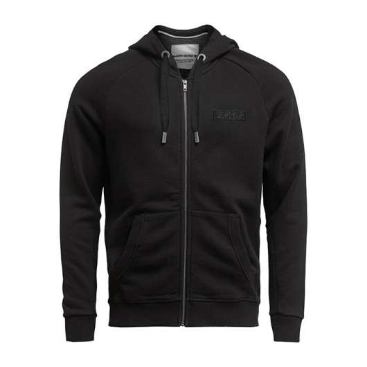 Borg Sport Zip Hood, Black Beauty