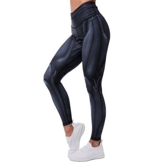 Bulletproof Compression Leggings, Black/White