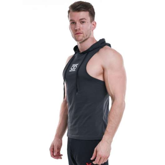 Chained Nutrition Hoodie Tank Top, Black