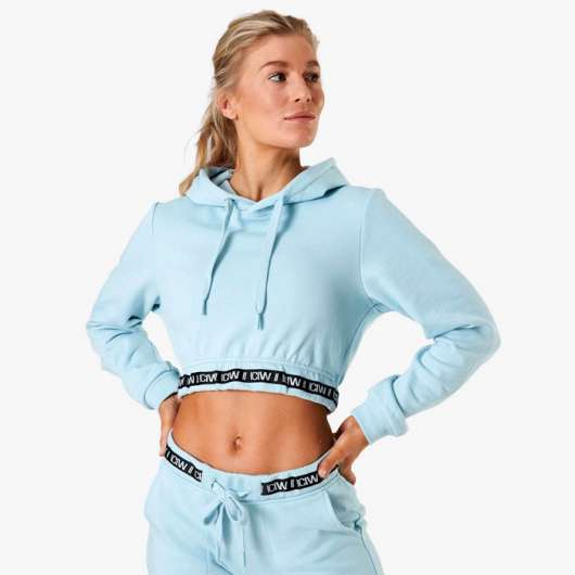 Chill Out Cropped Hoodie, Dusty Blue