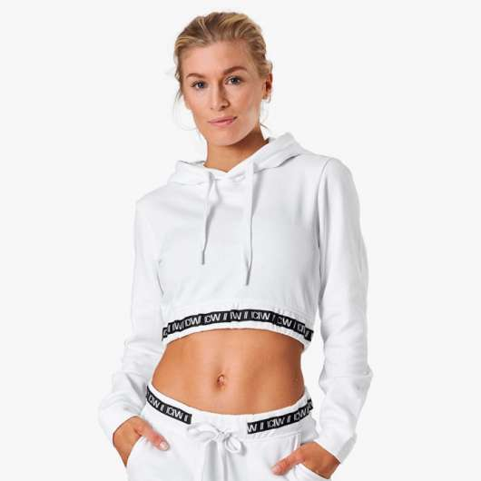 Chill Out Cropped Hoodie, White