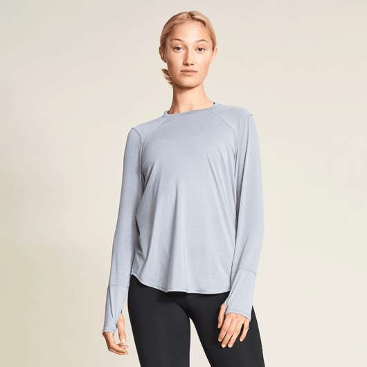 Clara Loose Long Sleeve, Grey Melange