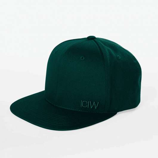 Clean Snapback Cap, Dark Green