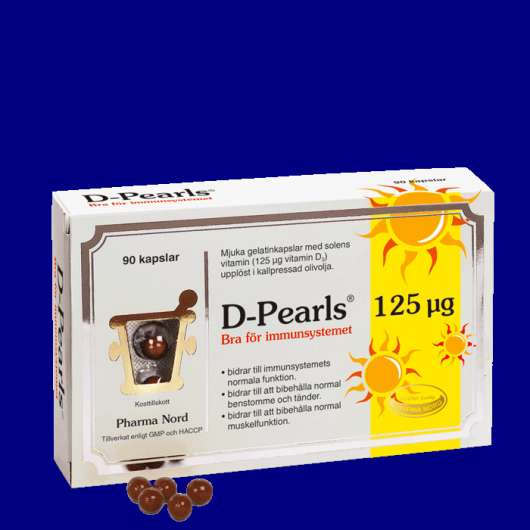 D-Pearls 125 µg (5000 IE), 90 kapslar