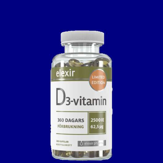 D3 Vitamin 2500IE, 360 kapslar - Limited Edition