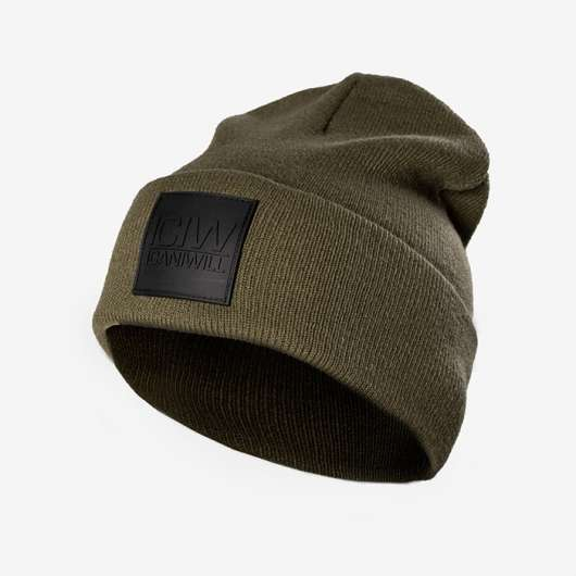 Folded Beanie, Army Green