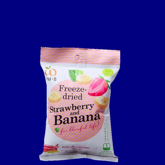 Freezedried Strawberry & Banana, 16 g