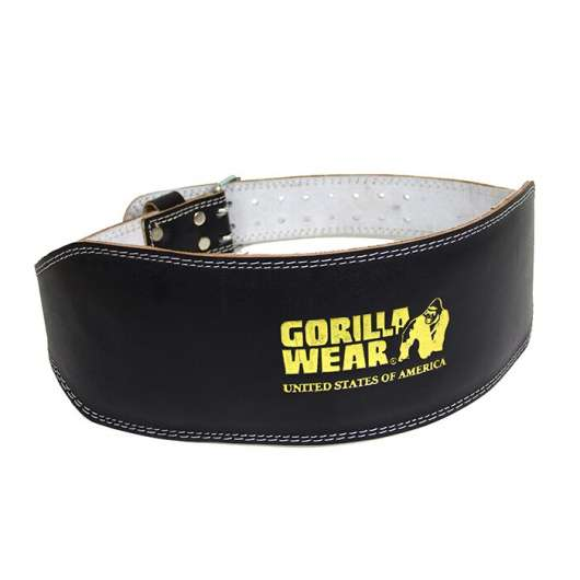 Full Leather Padded Belt, black/gold