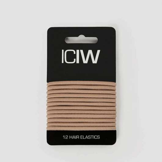 ICIW 12-Pack Sport Hair Ties, Sand
