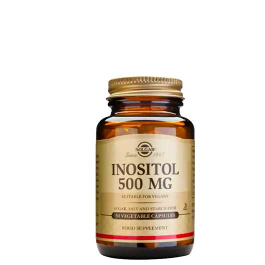 Inositol, 500 mg, 50 kapslar