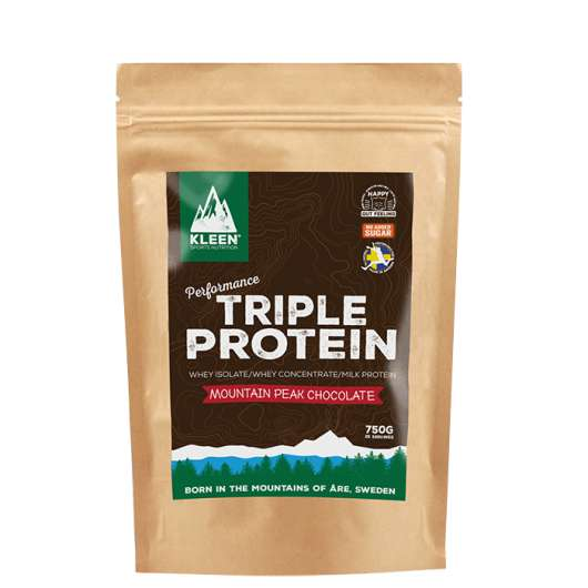 KLEEN Triple Protein Mountain Peak Chocolate, 750 g