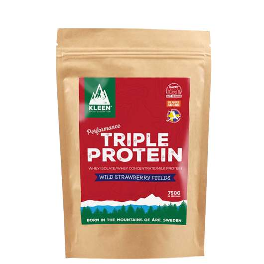 KLEEN Triple Protein Wild Strawberry Fields, 750 g