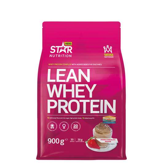 Lean Whey Protein, 900g, Double Chocolate Mousse - kort datum