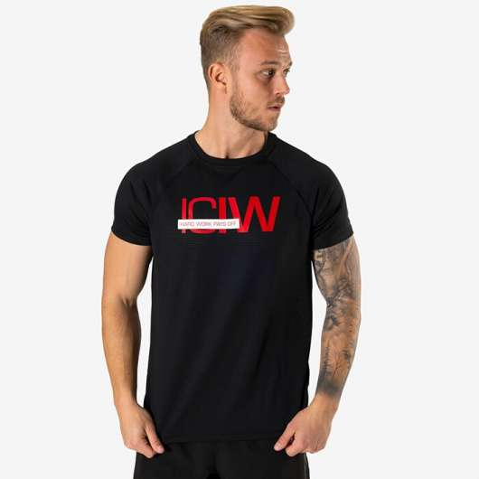 Mesh Training T-shirt, Black