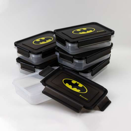 Perfect Meal Containers, Batman, 3 containers
