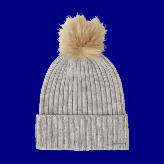 Pompom beanie, Light Grey Melange
