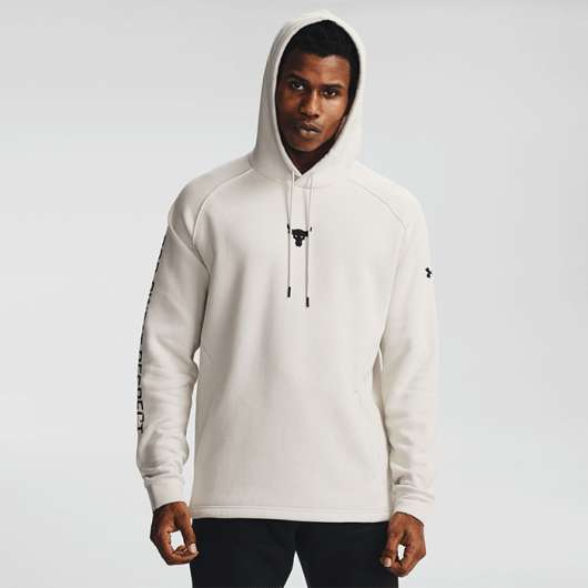UA Project Rock CC Hoodie, Summit White