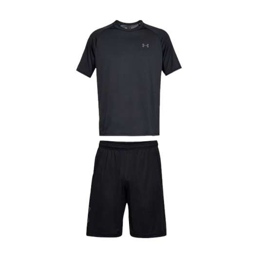 UA Tech SS Tee + UA Tech Graphic Short