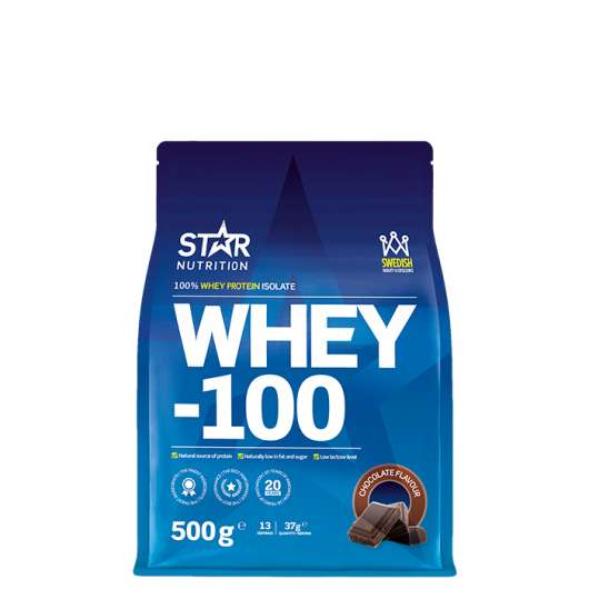 WHEY-100, 500 g, Chocolate, Kort datum