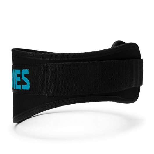 Womens gym belt, Black/aqua