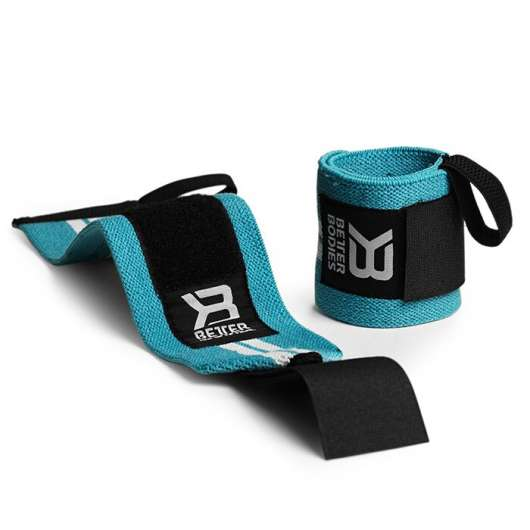 Womens wrist wraps, Aqua/white