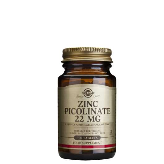 Zinc Picolinate 22 mg, 100 tabletter
